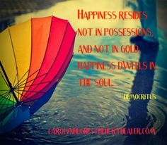 Find happiness in your soul. #happiness #soul http://carolynhughesthehurthealer.com/2013/04/22/sanctuary-of-the-soul/