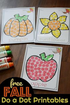 FREE Simple Do a Dot Printables for Fall