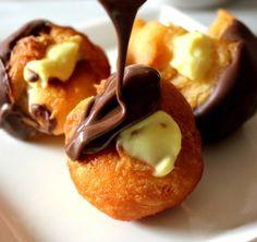 ~Boston Cream Doughnut Holes!
