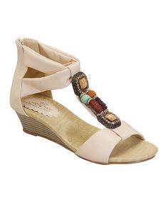 Another great find on #zulily! Beige Kenya Sandal #zulilyfinds