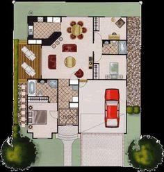Casa 3 quartos e garagem