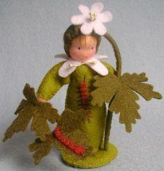 Blumenkind mit Buschwindröschen