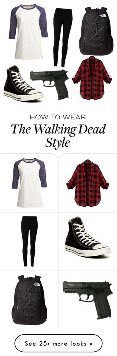 """the walking dead"" by kmayhew4415 on Polyvore featuring Camp Collection, Max Studio, Converse and The North Face"