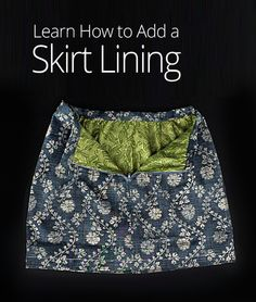 This course from Professor Pincushion walks you through the process of drafting a basic skirt using your own measurements, so that your DIY creation fits you and your style perfectly. You will also learn how to stitch together and assemble a skirt based on your pattern, add lining, and attach patch pockets.
