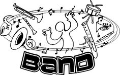 Sports Clipart of A Band Design With Musical Instruments And Notes Music Cookies, Band Director, Friday Night Lights, Band Pictures, Love Band, Band Shirts, Tee Shirts, Clipart Images, Art Google