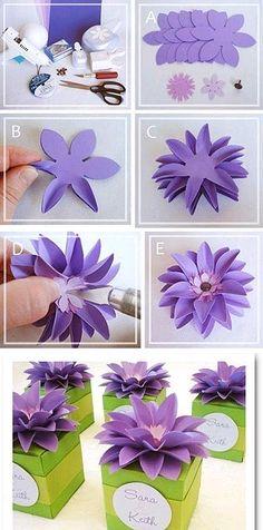 Очаровательный цветок из бумаги для подарочной упаковки легко сделать своими руками, следуя этой фотоинструкции. Получается даже лучше, чем те, что продают в отделах упаковки подарков.