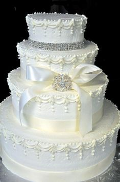 Get a king cake, doberge cake, or your own customized cake, all made from scratch with high quality ingredients! Bling Wedding Cakes, White Wedding Cakes, Elegant Wedding Cakes, Beautiful Cakes, Amazing Cakes, Doberge Cake, King Cakes, Bridal Party Dresses, Engagement Cakes