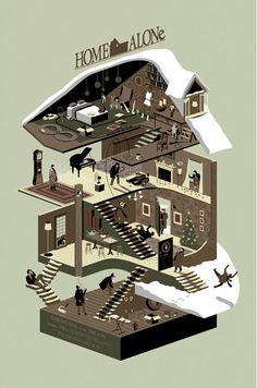 Home Alone (1990) ~ Alternative Movie Poster by Adam Simpson #amusementphile