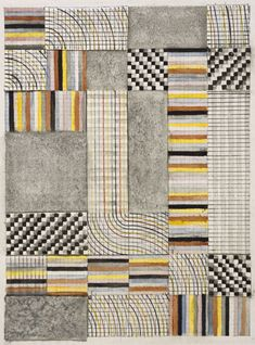 Bauhaus online archive from Harvard Art Museum! Anni Albers, Design for a Rug, 1927 Bauhaus Textiles, Motifs Textiles, Textile Patterns, Print Patterns, Anni Albers, Josef Albers, Women Artist, Harvard Art Museum, Abstract Art