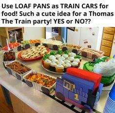 Train birthday party idea