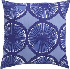 "Marimekko Appelsiini Blue 20""sq. Outdoor Pillow in Outdoor Pillows | Crate and Barrel"