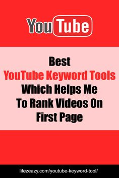 These are the Youtube Keyword tools I use to rank my videos on first page of YouTube. All are free and you don't have to pay a single penny. So, do check out