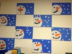 Our class snowman art project kindergarten art projects, winter art pro Kindergarten Art Activities, Kindergarten Art Projects, In Kindergarten, Winter Activities, Winter Art Projects, Winter Crafts For Kids, Art For Kids, Craft Projects, January Art