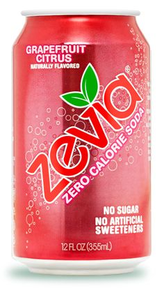 Grapefruit Citrus | Zevia Zero Calorie Soda Sweetened With Stevia. Pack of twenty four, 12 oz cans (total of 288 oz). Sweetened with Stevia. Vegan, Kosher, & Gluten-Free. Zero Calories. All natural ingredients. Ships in Certified Frustration-Free Packaging. http://www.amazon.com/gp/product/B009IQLDJO