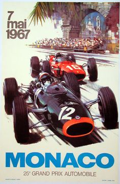Monaco is close, peeps! So here are a few Monaco Grand Prix posters for your pleasure, sadly in low resolution. The 1967 poster hangs proudly on my bedroom wall, I'm eager to get my hands on a few more. I need a bigger apartment though :)