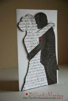 Идеи чёрно-белых свадебных открыток
