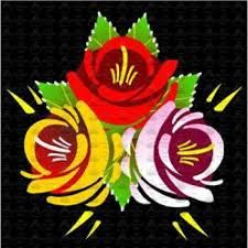Traditional Style Canal Rose Sticker 3 - Different styles and sizes available and custom made sizes to order Painted Plant Pots, Painted Flower Pots, One Stroke Painting, Boat Painting, Canal Boat Art, Traditional Roses, Russian Painting, Step By Step Painting, Learn To Paint