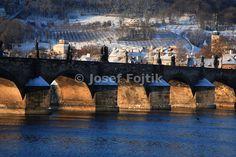 Vltava River, Charles Bridge and Petrin Hill in the Background, Prague, Czech Republic - Josef Fojtik Photography Charles Bridge, Prague Czech, Czech Republic, River, Gallery, Pictures, Photography, Tights, Photos