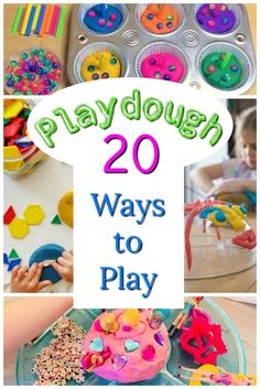 First - LOVE this playdough recipe. No cook! Just boil water - and these are Awesome playdough activities for preschoolers! These playdough ideas are perfect for kids of all ages! Playdough Activities, Preschool Learning Activities, Infant Activities, Toddler Preschool, Preschool Activities, Creative Activities For Toddlers, 18 Month Activities, Educational Activities For Preschoolers, Pranks