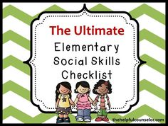 Response to Intervention: The Ultimate Social Skills Checklist