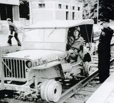 "he Willys MB rail fitting above (called a ""Short Cut"") was created because although many 3rd world countries had established rail systems, working roads were in short supply. This innovation was a success."