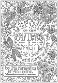 2 Printable Bible Coloring Pages Romans 8 28 and Romans 2 12 #bible #coloringpage #romans
