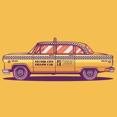 "1,582 Likes, 14 Comments - @musketon on Instagram: ""Vector City yellow cab #fromupnorth #bestvector #graphicroozane #digitalartworks…"""