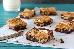 fudgy fluffernutter swirl brownies