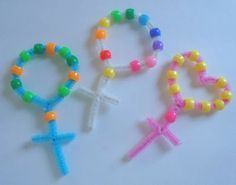 Easy Rosary Craft for Kids