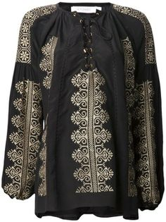 Altuzarra embroidered lace up top on shopstyle.com