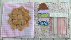 pie and ice cream quiet book page How cute is this?!!