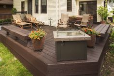 A completed deck remodel by Fair and Square Remodeling. #FairandSquare  Photo by: Troy Thies http://www.troythiesphoto.com/