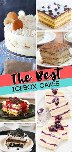20 of The Best Icebox Cakes Cool and delicious old-fashioned icebox cakes! These treats are easy to make and entirely sweet! Find your favorite including some easy chocolate icebox cake recipes! They are the best dessert recipes! Easy Delicious Recipes, Easy Cake Recipes, Best Dessert Recipes, Sweet Recipes, Delicious Desserts, Icebox Desserts, Icebox Cake Recipes, Köstliche Desserts, French Desserts