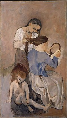 Pablo Picasso...La Coiffure 1906 ❌ART : PABLO PICASSO ( 1881 - 1973 ) SPANISH PAINTER AND SCULPTOR / CUBISM : More At FOSTERGINGER At Pinterest ❇️✳️⭕️