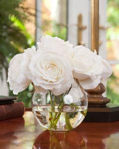 Shop Lifelike Rose Nosegay Silk Flower Arrangement at Petals Head Table Wedding Decorations, Head Table Decor, Table Decoration, Wedding Table, Faux Flowers, Silk Flowers, White Flowers, Fresh Flowers, Table Flower Arrangements