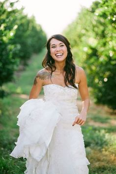 80 Gorgeous Brides That Showed Off Their Tattoos | HappyWedd.com