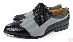 Moda Di Raza Mens Oxford Lace Dress Shoes Sleek Trendy Light Shine