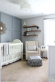 Hamptons inspired nursery | nautical + travel + baby