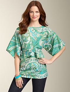 Talbots - Paisley Kimono Top | | APPAREL