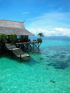 Travel Inspiration for Malaysia - Sipadan Kapalai Dive Resort, Malaysia (Borneo) Places Around The World, Oh The Places You'll Go, Places To Travel, Places To Visit, Vacation Destinations, Dream Vacations, Maldives Vacation, Dream Vacation Spots, Vacation Places