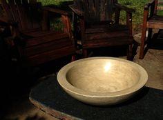 Concrete Vessel  Fruit Bowl  Concrete Art by BungalowStreet, $115.00
