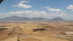 Wheat fields after harvest - From Piekenierskloof Mountain Pass near Citrusdal - Nov 2016