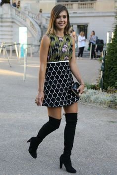 How to Dress for Fall When It's Still Hot Out. Over the Knee Boots
