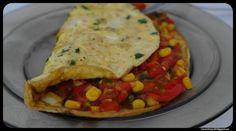 Rozczochrany Łeb!: Kolorowy omlet z warzywami