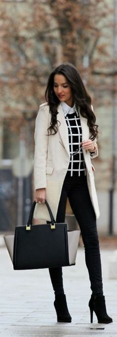OutFit Ideas - Women look, Fashion and Style Ideas and Inspiration, Dress and Skirt Look Fashion Mode, Office Fashion, Fashion Outfits, Fashion Ideas, Street Fashion, Stylish Outfits, Formal Outfits, Fashion Trends, Fashion Inspiration