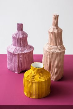 Paola Paronetto Fide paper clay pottery collection.