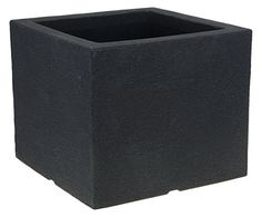 Charcoal Stone Effect Garden Planters Flower Pots Trough Plant Pot Indoor or Outdoor (40cm Cube)