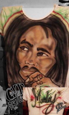 Bob Marley Airbrush by GT Artland