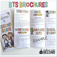 Back To School Meet The Teacher Open House Brochure EDITABLE