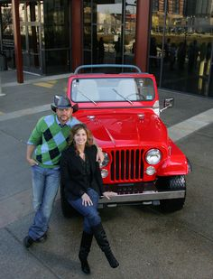 Jeep comes full circle in Tim McGraw and Faith Hill's life... in more ways than one. That same red Jeep Wrangler that Tim had when they were dating, was later sold. Then Faith Hill found it and bought it for Tim as a gift. Today, that same Jeep plays a role in their professional lives as well - as Jeep is the sponsor for their 2007 Soul2Soul tour.